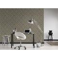 AS Création Vliestapete Authentic Walls 2 Tapete in 3D Optik geometrisch braun beige 10,05 m x 0,53 m