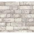 AS Création Vliestapete Authentic Walls 2 Tapete in Backstein Optik grau weiß 302562 10,05 m x 0,53 m