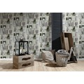 AS Création Vliestapete Authentic Walls 2 Tapete in Holzregal Optik grau grün weiß 10,05 m x 0,53 m