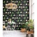 AS Création Vliestapete Authentic Walls 2 Tapete schwarz grün weiß 364881 10,05 m x 0,53 m