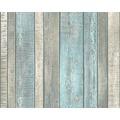 AS Création Vliestapete Best of Wood'n Stone 2nd Edition Tapete in Vintage Holz Optik blau creme grau 10,05 m x 0,53 m