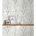 AS Création Vliestapete Blooming Tapete Ast Optik grau schwarz metallic 372604 10,05 m x 0,53 m