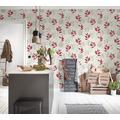 AS Création Vliestapete Blooming Tapete floral weiß grau beige 10,05 m x 0,53 m