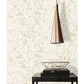 AS Création Vliestapete Blooming Tapete in Vintage Optik weiß metallic 10,05 m x 0,53 m