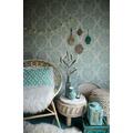 AS Création Vliestapete Boho Love Tapete im Ethno Look metallic blau grün 10,05 m x 0,53 m