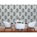AS Création Vliestapete Boho Love Tapete mit Vintage Ornamenten metallic grau schwarz 10,05 m x 0,53 m