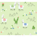 AS Création Vliestapete Boys & Girls 6 Tapete mit Lamas grün 369852 10,05 m x 0,53 m