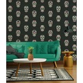 AS Création Vliestapete Club Tropicana Tapete Sugar Skulls bunt metallic schwarz 10,05 m x 0,53 m