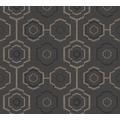 AS Création Vliestapete Ethnic Origin Tapete geometrisch grafisch schwarz metallic 371774 10,05 m x 0,53 m