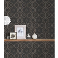 AS Création Vliestapete Ethnic Origin Tapete geometrisch grafisch schwarz metallic 371774 10,05 m x 0,53 m