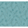 AS Création Vliestapete Exotic Life Tapete mit Palmenblättern blau grün metallic 373673 10,05 m x 0,53 m