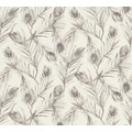 AS Création Vliestapete Exotic Life Tapete mit Palmenblättern grau metallic 373674 10,05 m x 0,53 m
