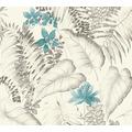 AS Création Vliestapete Exotic Life Tapete tropisch floral natürlich blau grau schwarz 372792 10,05 m x 0,53 m