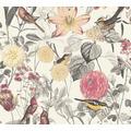 AS Création Vliestapete Exotic Life Tapete tropisch floral natürlich gelb grau rot 372761 10,05 m x 0,53 m