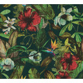 AS Création Vliestapete Greenery Tapete mit Blätter Motiv grün blau rot 372165
