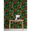 AS Création Vliestapete Greenery Tapete mit Blätter Motiv grün blau rot 372165 10,05 m x 0,53 m