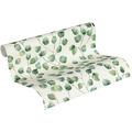 AS Création Vliestapete Greenery Tapete mit Blätter Motiv grün weiß 10,05 m x 0,53 m