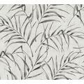 AS Création Vliestapete Greenery Tapete mit Palmenprint in Dschungel Optik grau beige 373352