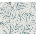 AS Création Vliestapete Greenery Tapete mit Palmenprint in Dschungel Optik grau blau 373351 10,05 m x 0,53 m