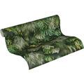 AS Création Vliestapete Greenery Tapete mit Palmenprint in Dschungel Optik grün 10,05 m x 0,53 m