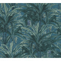 AS Création Vliestapete Greenery Tapete mit Palmenprint in Dschungel Optik grün blau 364801 10,05 m x 0,53 m
