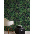 AS Création Vliestapete Greenery Tapete mit Palmenprint in Dschungel Optik grün schwarz 370331 10,05 m x 0,53 m