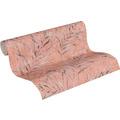 AS Création Vliestapete Greenery Tapete mit Palmenprint in Dschungel Optik rosa rot orange 10,05 m x 0,53 m