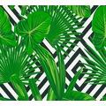 AS Création Vliestapete Il Decoro Tapete geometrisch grafisch tropisch grün schwarz weiß 368112 10,05 m x 0,53 m