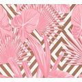 AS Création Vliestapete Il Decoro Tapete geometrisch tropisch metallic rosa weiß 368111 10,05 m x 0,53 m