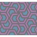 AS Création Vliestapete Linen Style Tapete geometrisch grafisch blau schwarz lila 367601 10,05 m x 0,53 m