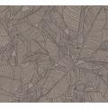 AS Création Vliestapete Linen Style Tapete mit Blätter Muster beige grau schwarz 366334 10,05 m x 0,53 m