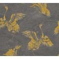 AS Création Vliestapete Linen Style Tapete mit Vögeln gelb grau schwarz 366313 10,05 m x 0,53 m