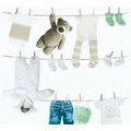 AS Création Vliestapete Little Stars Ökotapete PVC-frei creme grün weiß 358442 10,05 m x 0,53 m