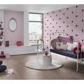 AS Création Vliestapete Little Stars Ökotapete PVC-frei rosa schwarz 10,05 m x 0,53 m