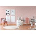 AS Création Vliestapete mit Glitter Boys & Girls 6 Tapete mit Bilderrahmen rosa rot weiß 10,05 m x 0,53 m