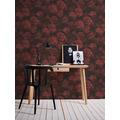 AS Création Vliestapete Neue Bude 2.0 Edition 2 Romantic Flowery rot schwarz 374024 10,05 m x 0,53 m