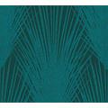 AS Création Vliestapete New Elegance Palmentapete grün blau 375533 10,05 m x 0,53 m