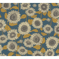 AS Création Vliestapete New Life Blumentapete blau gelb anthrazit 376853 10,05 m x 0,53 m