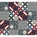 AS Création Vliestapete New Life Fliesentapete schwarz rot blau creme weiß 376844 10,05 m x 0,53 m