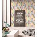 AS Création Vliestapete Pop Colors Tapete blau gelb rosa 355913 10,05 m x 0,53 m