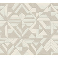 AS Création Vliestapete Pop Style Retrotapete metallic beige creme 374812 10,05 m x 0,53 m