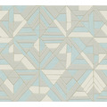 AS Création Vliestapete Pop Style Retrotapete metallic blau grau 374813 10,05 m x 0,53 m