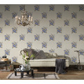 AS Création Vliestapete Romantico Tapete romantisch floral creme blau braun 372252 10,05 m x 0,53 m