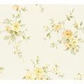 AS Création Vliestapete Romantico Tapete romantisch floral creme gelb grün 372321 10,05 m x 0,53 m