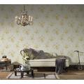 AS Création Vliestapete Romantico Tapete romantisch floral creme gelb grün 372321
