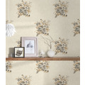 AS Création Vliestapete Romantico Tapete romantisch floral creme grau braun 372253 10,05 m x 0,53 m