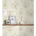 AS Création Vliestapete Romantico Tapete romantisch floral creme grün lila 372345