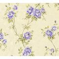 AS Création Vliestapete Romantico Tapete romantisch floral creme lila grün 372265 10,05 m x 0,53 m
