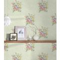 AS Création Vliestapete Romantico Tapete romantisch floral grün rosa 372255 10,05 m x 0,53 m