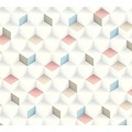 AS Création Vliestapete Scandinavian 2 Tapete in 3D Optik geometrisch beige blau rosa 361852 10,05 m x 0,53 m